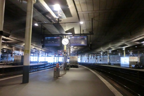ベルン駅のプラットフォーム
