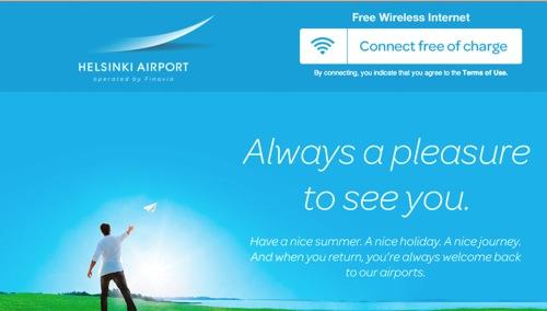 空港のwifi