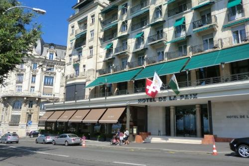 スイス ローザンヌのホテル Hôtel de la Paix Lausanneに2日泊まった感想