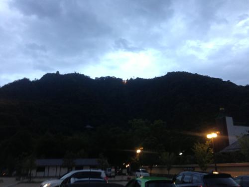 夜の金華山