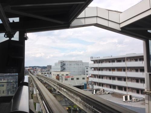 モノレール乗り場からの景色