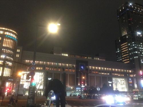 夜の札幌駅