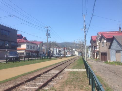 廃線になった電車の道