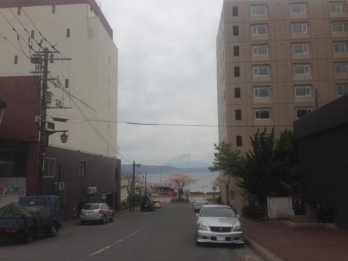 町から見える蝦夷富士