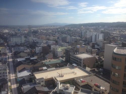 ホテル高層からの景色