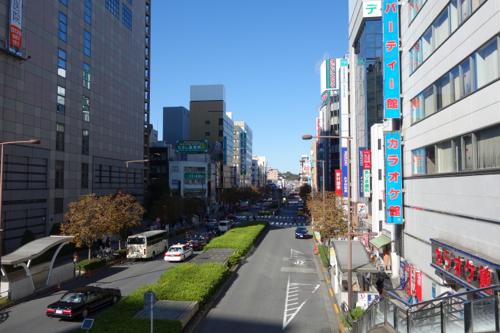 八王子駅前の通り