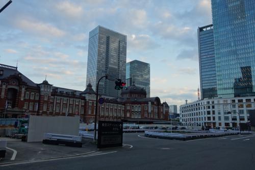 夕方の東京駅