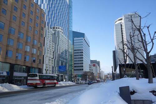今日は快晴。札幌出張最終日