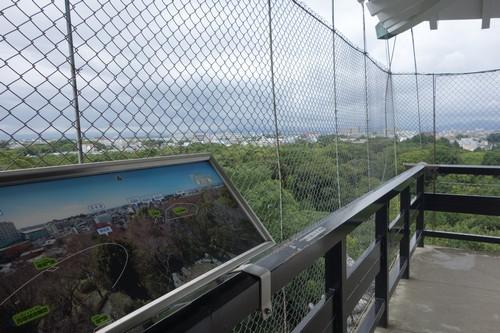 天守閣から見える浜松市内