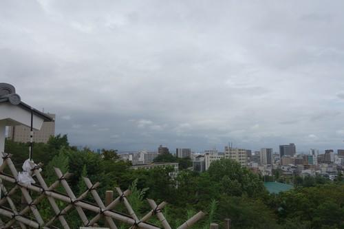 堀から見える景色