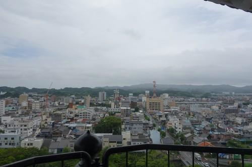 天守閣から眺める掛川市内