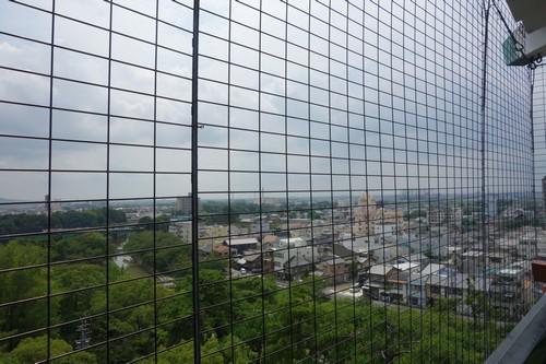 天守閣から見える岡崎の街