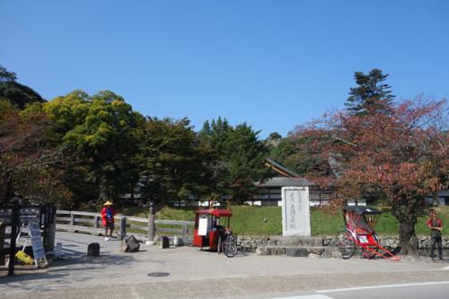 彦根城前の橋