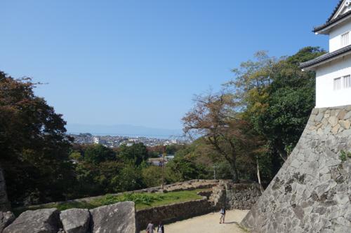 城から見える景色