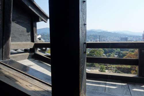 天守閣、窓からの景色