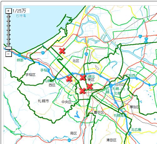 札幌の路上強盗発生場所