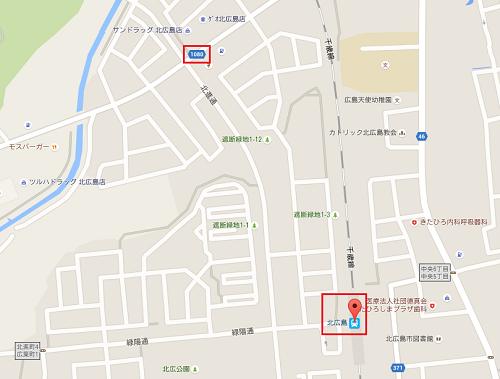 駅近辺のマップ