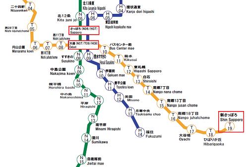 地下鉄の路線図
