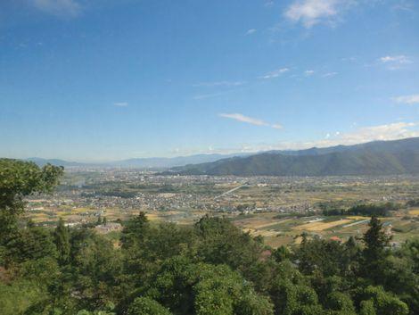 電車内から見える長野の景色