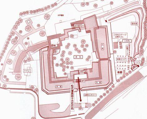 松代城の俯瞰マップ