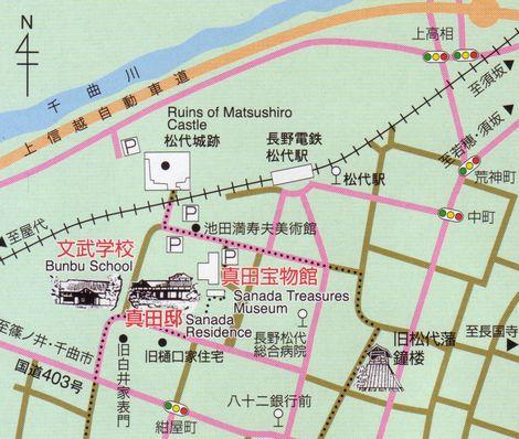 松代周辺のマップ