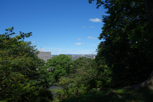 秋田市内の景色