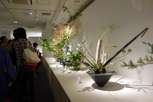 生花の展示