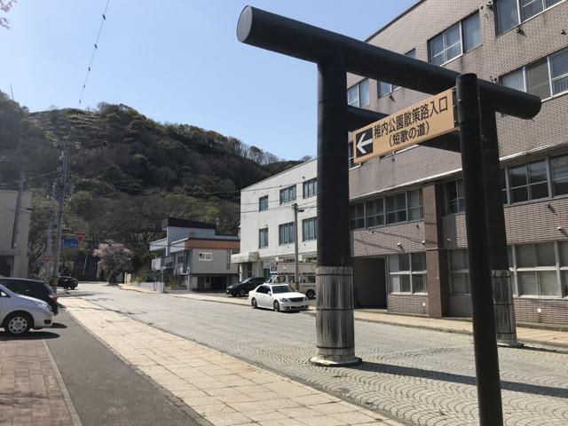 北門神社への入り口