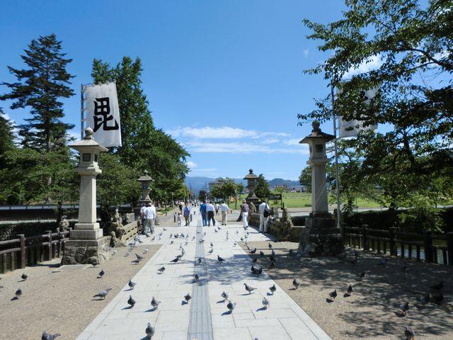 上杉神社を後にする