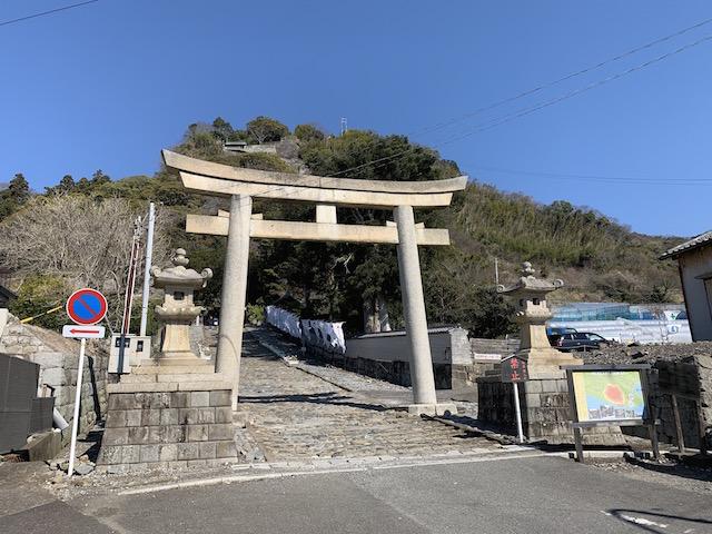 久能山東照宮麓の入り口