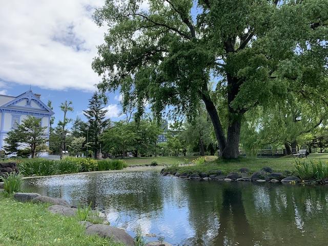 中島公園と豊平館