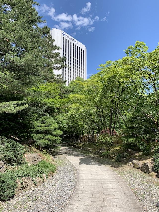 中島公園の日本庭園への道