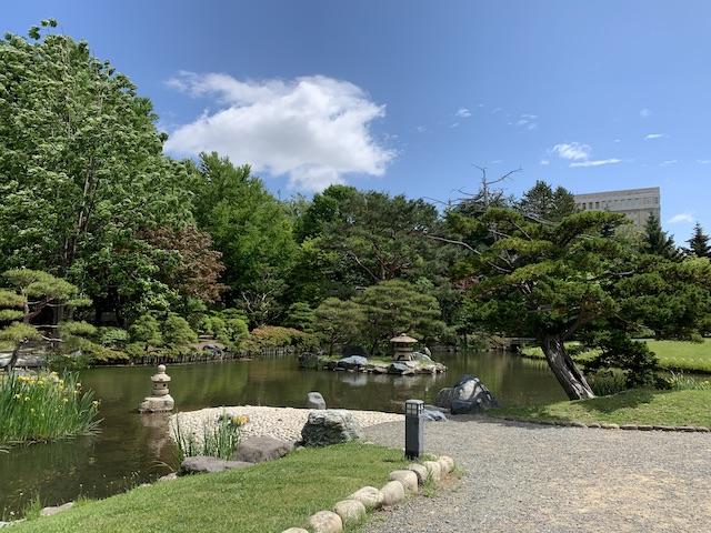 中島公園の日本庭園絶景