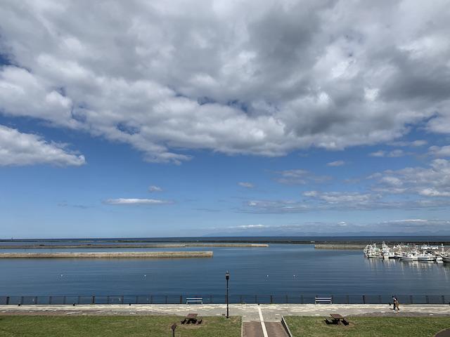 小樽築港から見える美しい海